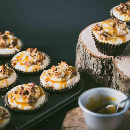 Vegan Gluten Free Banana, Pecan and Toffee Cupcakes (1)